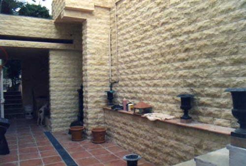 Espaces verts et ma onnerie - Recouvrement de mur interieur ...
